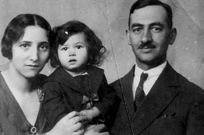 Little Leah with her parents in pre-war Hungary