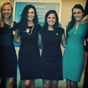 Kronfeld with Congresswoman Elise Stefanik in 2015 for the New York City launch of the Right Now Women PAC at the Women's National Republican Club
